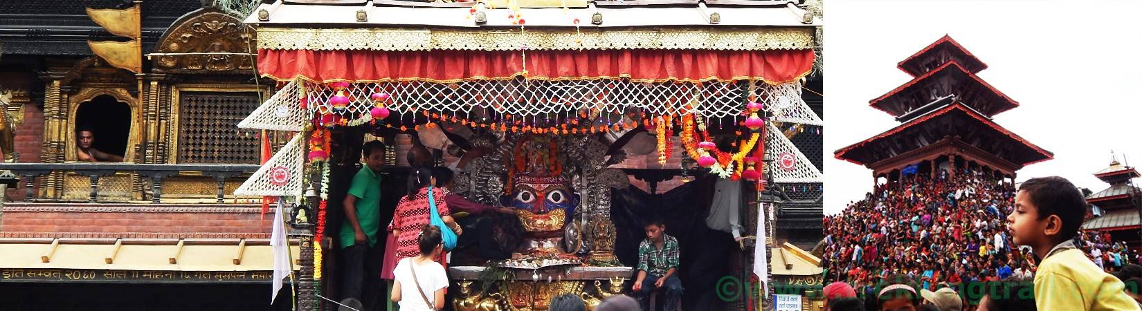 Tours in Nepal | Aakash Bhairav Temple and Injra Jatra Festival of Kathmandu Durbar Square