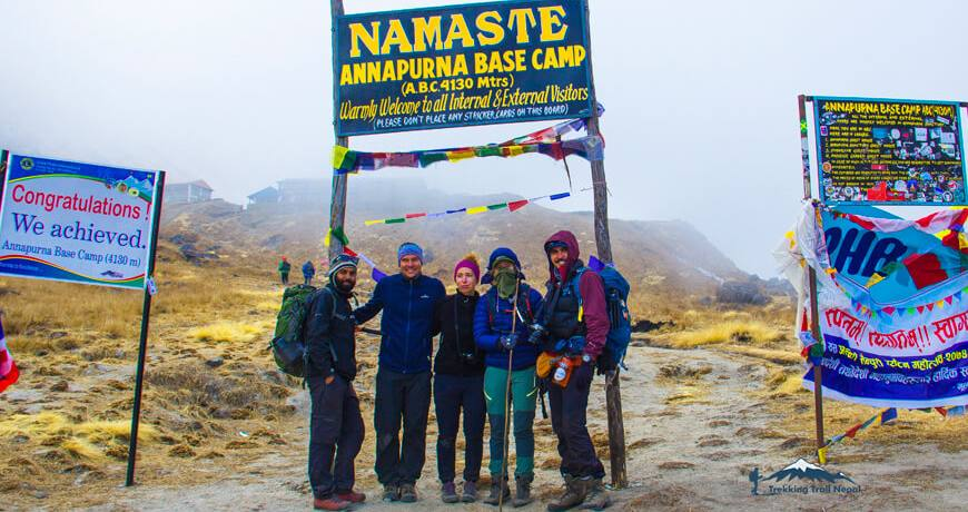 Trekking in Nepal in December