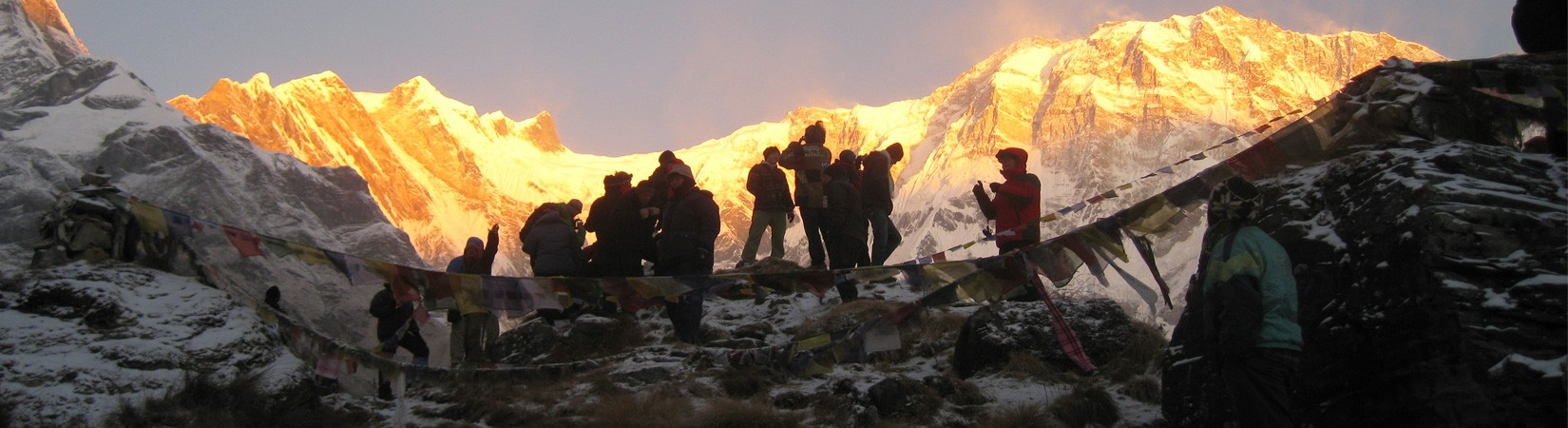 Sun rise at Annapurna I, ABC 4130 m