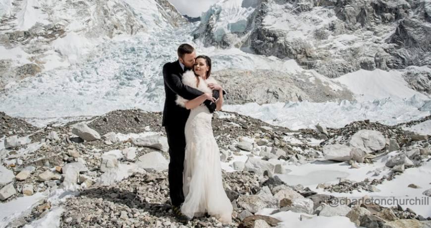 Wedding at the Everest Base Camp
