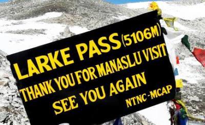 manaslu larkya la pass trekking