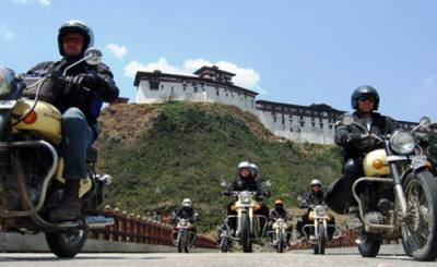 motor biking tour in bhutan